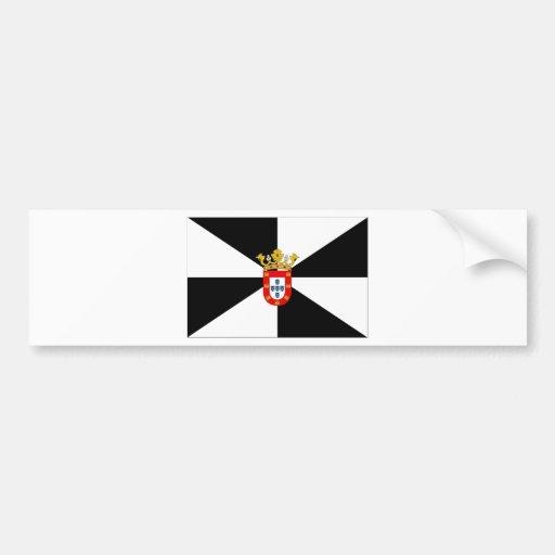 Bandera de Ceuta (España) Pegatina Para Auto