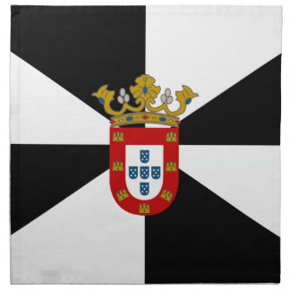 Bandera de Ceuta (España) Servilleta Imprimida