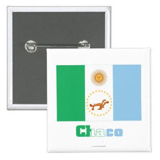 Bandera de Chaco con nombre Pins