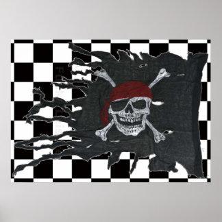 Bandera de Checkmatey Póster