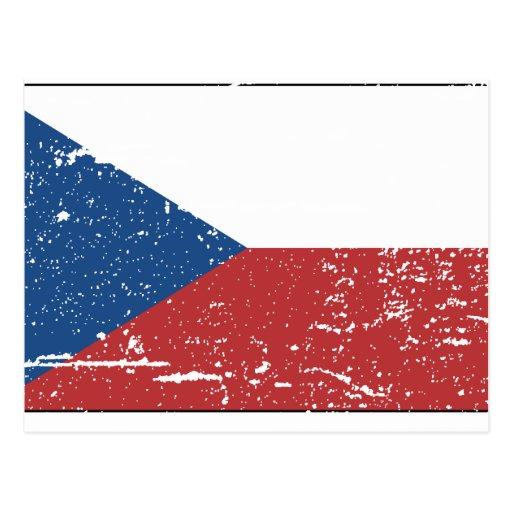 Bandera de Checo del vintage Postales