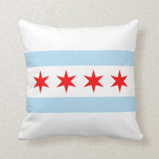 Bandera de Chicago Cojines