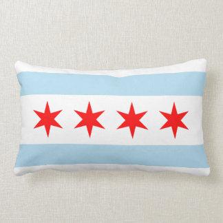 Bandera de Chicago Cojín Lumbar