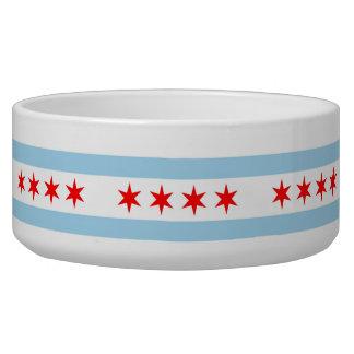 Bandera de Chicago, cuenco del mascota de la bande Comedero Para Mascota