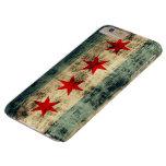 Bandera de Chicago del Grunge del vintage