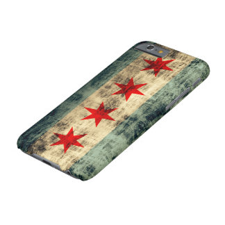 Bandera de Chicago del Grunge del vintage Funda Barely There iPhone 6