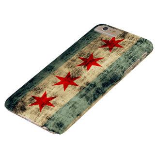 Bandera de Chicago del Grunge del vintage Funda De iPhone 6 Plus Barely There