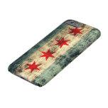 Bandera de Chicago del Grunge del vintage Funda Para iPhone 6 Barely There