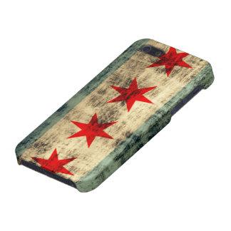 Bandera de Chicago del Grunge iPhone 5 Fundas
