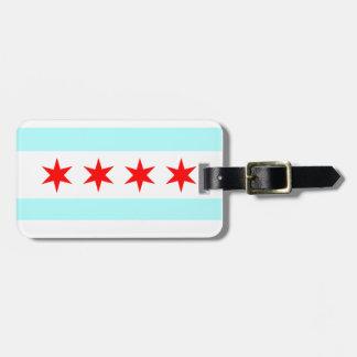 Bandera de Chicago Etiquetas Maleta