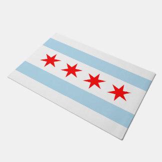 Bandera de Chicago Felpudo