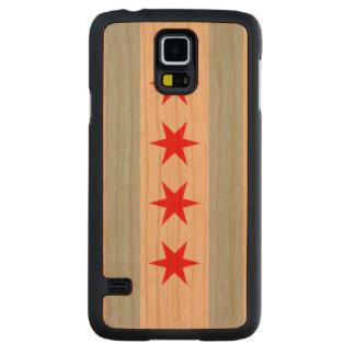 Bandera de Chicago Funda De Galaxy S5 Slim Cerezo