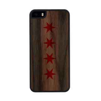 Bandera de Chicago Funda De Nogal Carved® Para iPhone 5 Slim