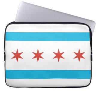 Bandera de Chicago Fundas Portátiles