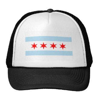 Bandera de Chicago Gorros Bordados