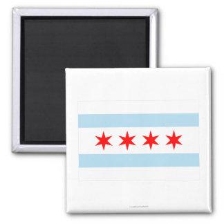 Bandera de Chicago Imán De Frigorífico