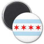Bandera de Chicago Imán De Frigorifico