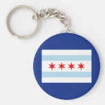 Bandera de Chicago Llavero