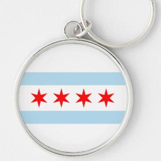 Bandera de Chicago Llaveros Personalizados