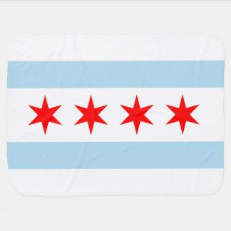 Bandera de Chicago Mantas De Bebé