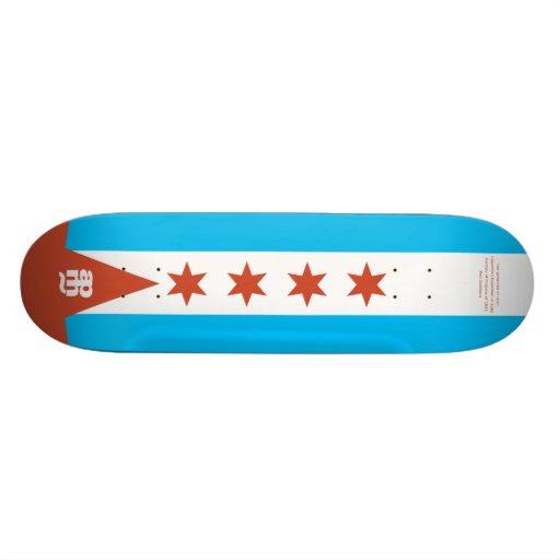 Bandera de Chicago Patines