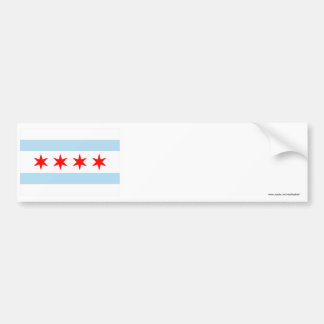 Bandera de Chicago Pegatina De Parachoque