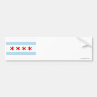 Bandera de Chicago Pegatina Para Auto
