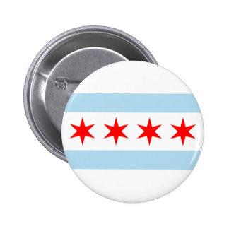 Bandera de Chicago Pin Redondo De 2 Pulgadas
