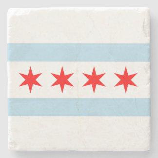 Bandera de Chicago Posavasos De Piedra