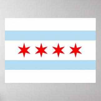 Bandera de Chicago Póster