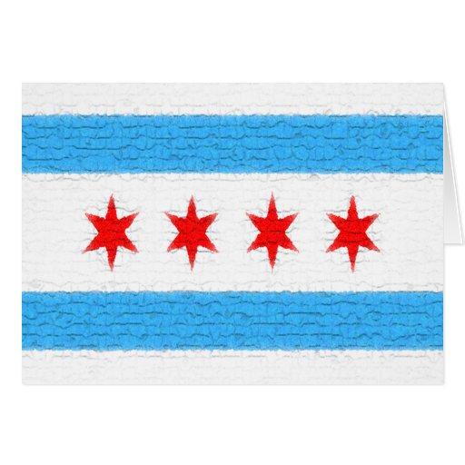 Bandera de Chicago Tarjeta Pequeña