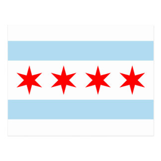 Bandera de Chicago Tarjetas Postales