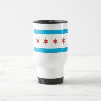 Bandera de Chicago Taza De Viaje De Acero Inoxidable