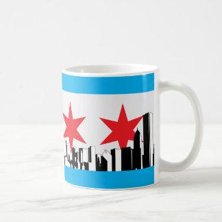 Bandera de Chicago Taza Clásica