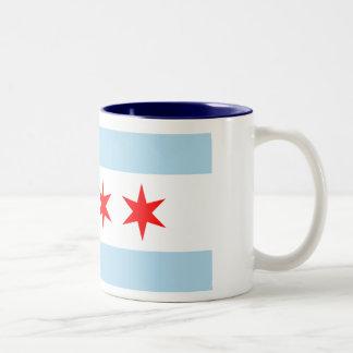Bandera de Chicago Taza De Dos Tonos
