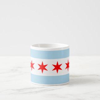 Bandera de Chicago Tazas Espresso