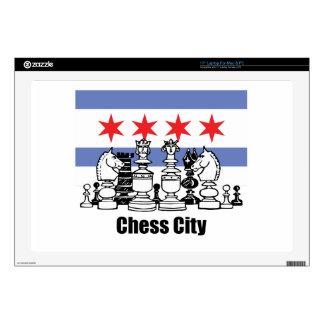 Bandera de Chicago y tablero de ajedrez Portátil Calcomanía