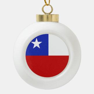 Bandera de Chile Adorno De Cerámica En Forma De Bola