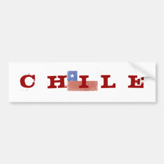 Bandera de Chile apenada Pegatina De Parachoque