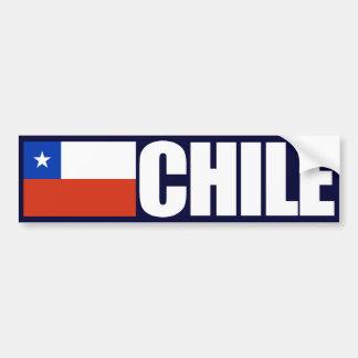 Bandera de Chile Pegatina De Parachoque