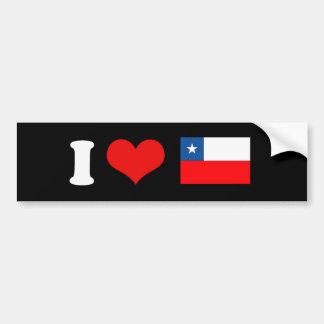 Bandera de Chile Pegatina Para Auto