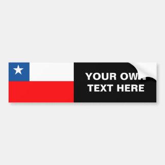Bandera de Chile Etiqueta De Parachoque