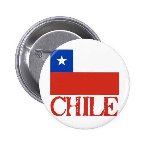 Bandera de Chile con las camisetas conocidas de Ch Pin Redondo 5 Cm