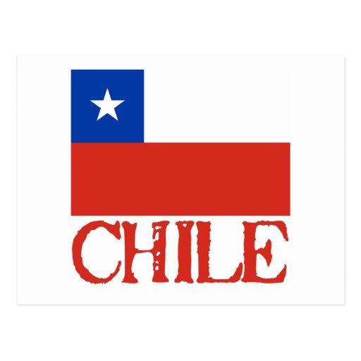Bandera de Chile con las camisetas conocidas de Ch Postales