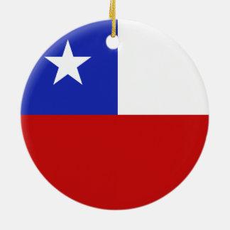 Bandera de Chile Adorno Redondo De Cerámica
