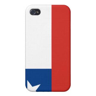 bandera de Chile del caso del iPhone 4 iPhone 4/4S Carcasa