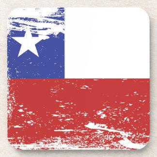 Bandera de Chile del Grunge Posavasos