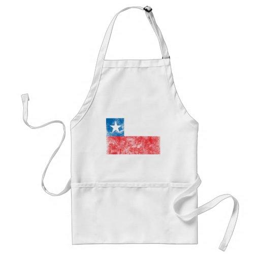 Bandera de Chile del vintage Delantal