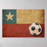 Bandera de Chile del vintage Poster