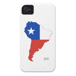 Bandera de Chile en el mapa del caso del iPhone 4 iPhone 4 Cárcasa